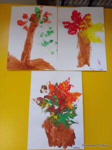 """""""Jesienne drzewa"""" w gr. V"""